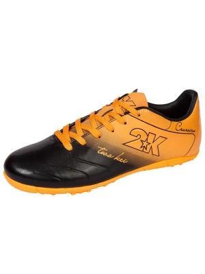 Бутсы футбольные Cruzeiro (шиповки) 2K. Цвет: черный, оранжевый