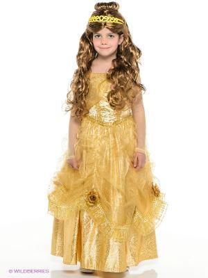 Карнавальный костюм Принцесса Белль Батик. Цвет: золотистый