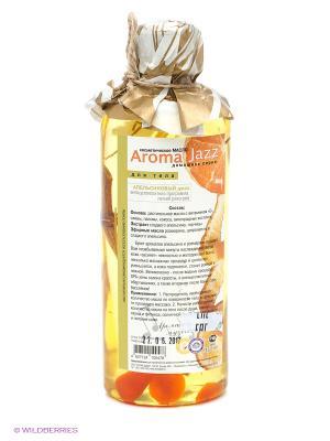 Масло жидкое для тела Апельсиновый джаз, 350 мл АРОМАДЖАЗ. Цвет: светло-оранжевый