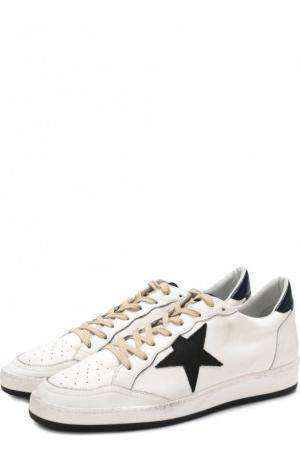 Комбинированные кеды Ball Star на шнуровке Golden Goose Deluxe Brand. Цвет: белый
