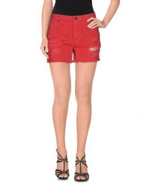 Джинсовые шорты UP ★ JEANS. Цвет: красный