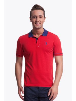 Футболки-поло U.S. Polo Assn.. Цвет: красный