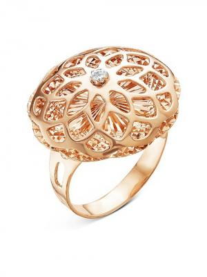 Кольцо Серебро России. Цвет: золотистый