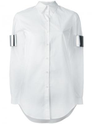 Рубашка декорированная каффами Mm6 Maison Margiela. Цвет: белый