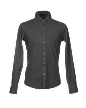 Джинсовая рубашка ARMANI JEANS. Цвет: свинцово-серый