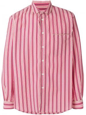 Рубашка в пижамном стиле Henrik Vibskov. Цвет: розовый и фиолетовый