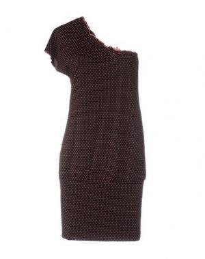 Короткое платье VERDISSIMA. Цвет: черный