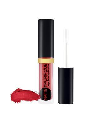 Матовая жидкая помада для губ тон 215 Vivienne Sabo. Цвет: красный