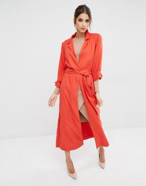 Kendall + Kylie Легкое пальто. Цвет: оранжевый