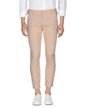 Джинсовые брюки MELTIN POT. Цвет: лососево-розовый