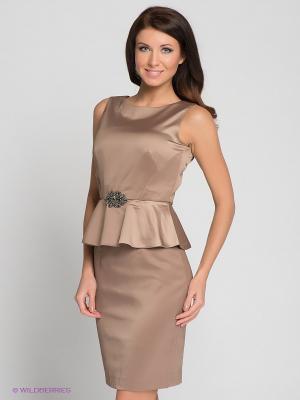 Платье INCITY. Цвет: темно-бежевый