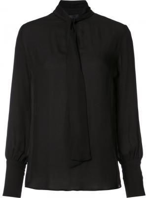 Блузка с завязками Nili Lotan. Цвет: чёрный