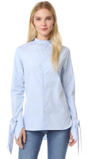 Рубашка Polly китайском стиле Marie Marot. Цвет: небесно-голубой