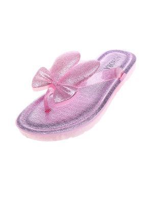 Шлепанцы Migura. Цвет: розовый, прозрачный