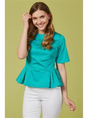 Блузка для кормящих мам MilkyMama. Цвет: бирюзовый