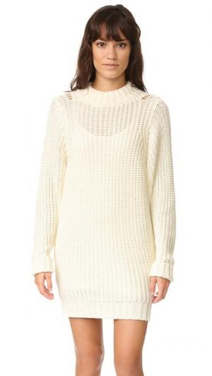 Платье-свитер Lanie dRA. Цвет: золотой