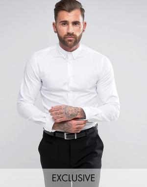 Heart & Dagger Приталенная рубашка с воротником на пуговицах. Цвет: белый
