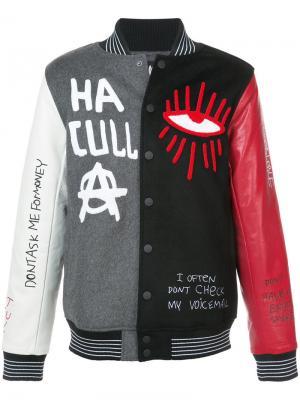 Университетская куртка Skribble Haculla. Цвет: многоцветный