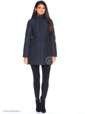 Стеганое пальто Violanti Land. Цвет: синий