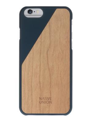 Чехол защитный для iPhone 6 , темно синее дерево CLICWooden Native Union. Цвет: темно-синий