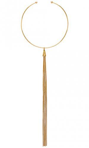 Золотое ожерелье calista Vanessa Mooney. Цвет: металлический золотой