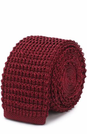 Шелковый вязаный галстук Lanvin. Цвет: бордовый