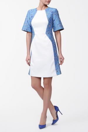 Платье Richard Nicoll. Цвет: синий, белый