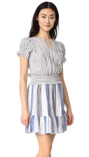 Платье Après Surf Warm. Цвет: ткань шамбре в полоску