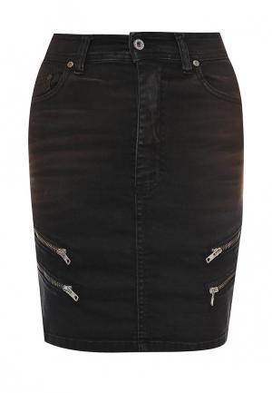 Юбка джинсовая Please. Цвет: черный
