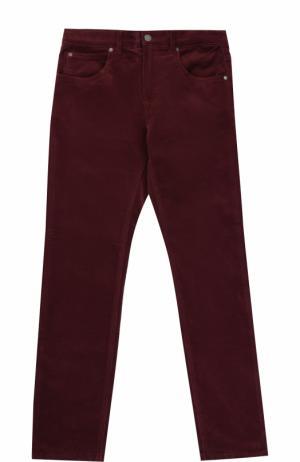 Джинсы прямого кроя с молниями на карманах Stella McCartney. Цвет: бордовый
