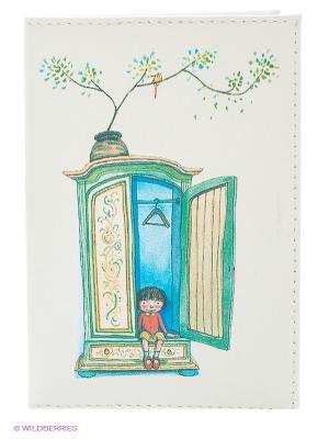 Обложка для паспорта Девочка и шкаф Mitya Veselkov. Цвет: молочный