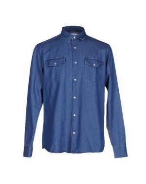 Джинсовая рубашка SOULLAND. Цвет: синий
