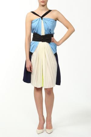 Платье Vionnet. Цвет: голубой