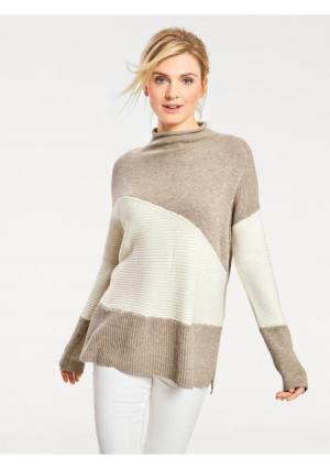 Пуловер B.C. BEST CONNECTIONS by Heine. Цвет: серый/темно-серый, экрю/песочный