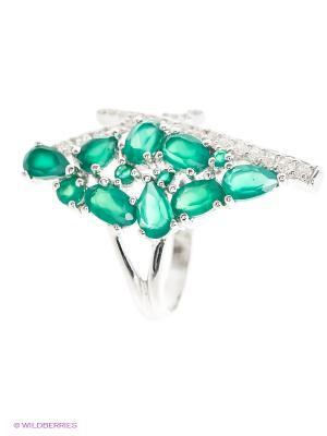 Кольцо Art Silver. Цвет: зеленый, серебристый