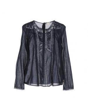 Блузка DES PETITS HAUTS. Цвет: темно-синий