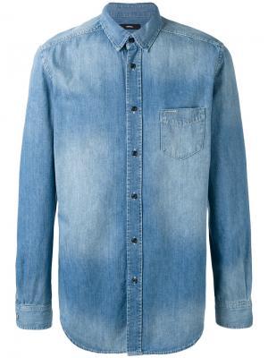 Джинсовая рубашка Carry Diesel. Цвет: синий