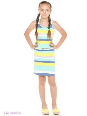 Платье GARCIA. Цвет: бирюзовый, желтый