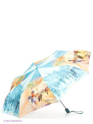 Зонт Zest. Цвет: голубой, горчичный
