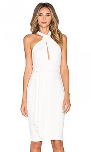 Платье миди raquel De Lacy. Цвет: белый