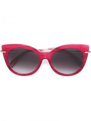 Солнцезащитные очки Zig-Zag Kiss Frency & Mercury. Цвет: розовый и фиолетовый