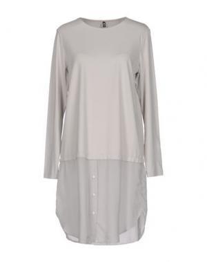 Короткое платье EUROPEAN CULTURE. Цвет: светло-серый