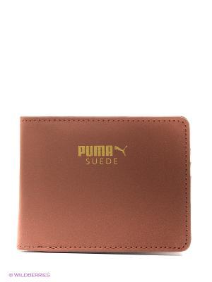 Кошелёк Suede Billfold Wallet Puma. Цвет: бежевый