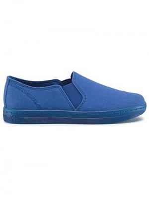Слипоны Dr.Martens. Цвет: голубой