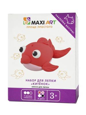Набор для Лепки Китёнок (МА-0816-10) MAXITOYS. Цвет: белый, бледно-розовый, красный, черный