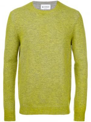 Однотонный свитер Dondup. Цвет: зелёный