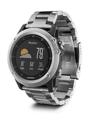 Умные часы Fenix 3 Sapphire с титановым браслетом GARMIN. Цвет: черный