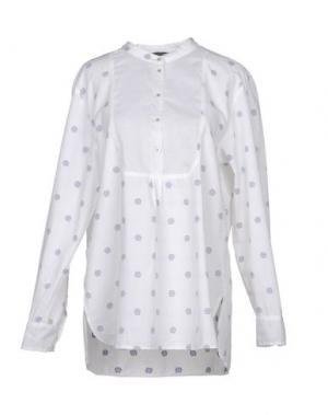 Блузка 19.70 NINETEEN SEVENTY. Цвет: белый