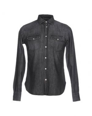 Джинсовая рубашка TRUE NYC.. Цвет: черный