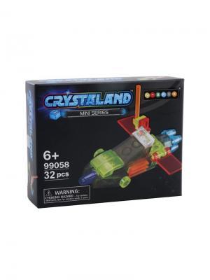 Светящийся конструктор Crystaland Беспилотный Самолет 32 детали Neocube. Цвет: фиолетовый
